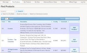 Google AffiliateX Find Products